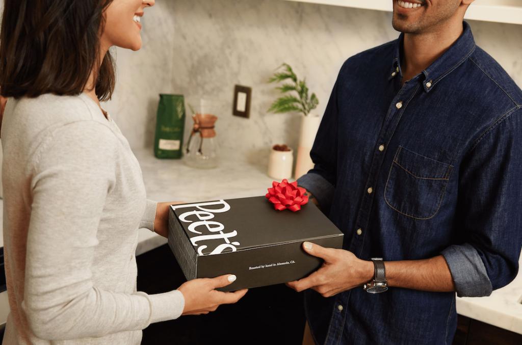 Gifting a box of Peet's