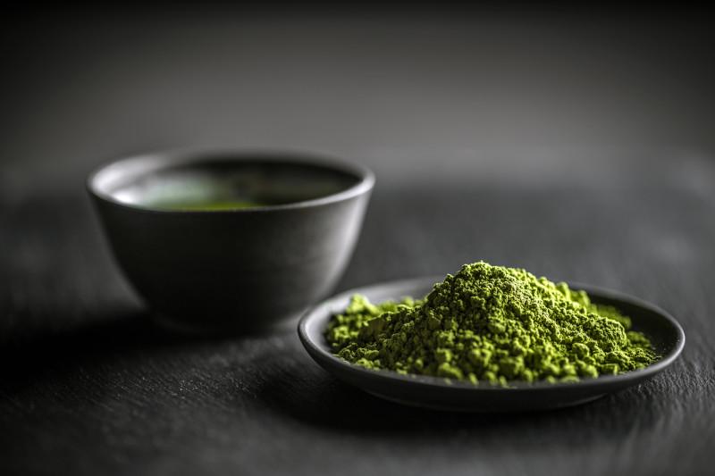 Japanese Matcha green tea and Matcha green tea powder.